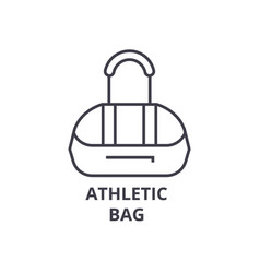 athletic bag line icon outline sign linear vector image vector image