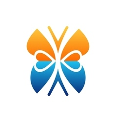 butterfly logo beauty lifestyle symbol icon design vector image vector image