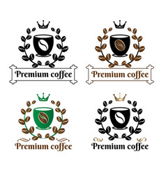coffee premium logo sign vector image vector image