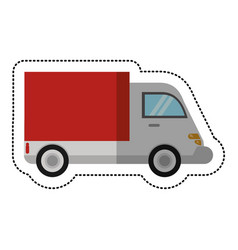 Delivery truck transport shadow vector