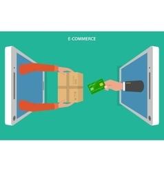 E-commerce flat concept vector image vector image