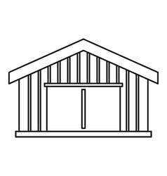 Garage icon outline style vector