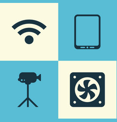 Hardware icons set collection of camcorder vector