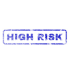 high risk rubber stamp vector image