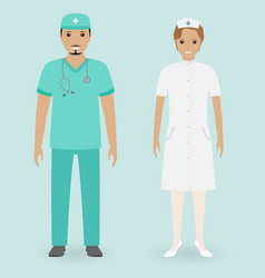 hospital staff concept male and female nurses vector image vector image