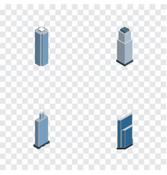 Isometric skyscraper set of skyscraper business vector