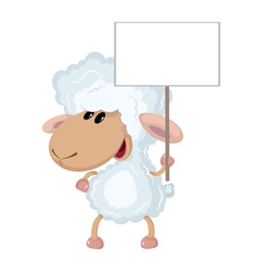 lamb with a sign vector image