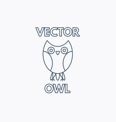 linear owl emblem vector image vector image