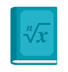 math book icon vector image