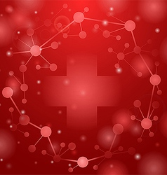 Medical cross on red vector image