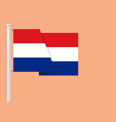 netherlands flag with copyspace vector image