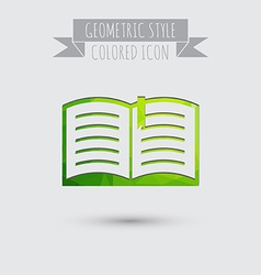open book Education sign symbol icon book with a vector image vector image