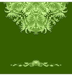 paper pattern on green background vector image