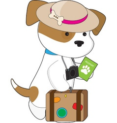 Puppy travel vector
