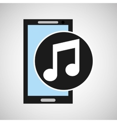 Smartphone social media music note vector