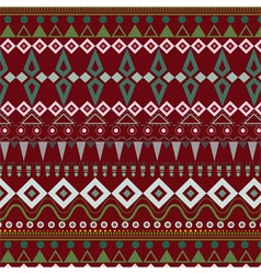 Tribal ethnic seamless stripe pattern on red vector image vector image