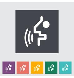 Voice recognition button vector