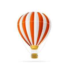 white and red hot air ballon isolated vector image vector image