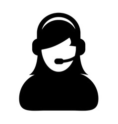 woman customer care service and support icon vector image vector image