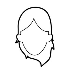 Woman head design vector