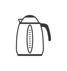Kettle pot supply house electric appliance icon vector