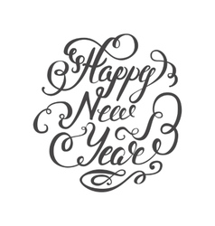 Happy new year 2017 hand-lettering text on white vector