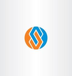 Letter s blue orange logotype circle symbol vector
