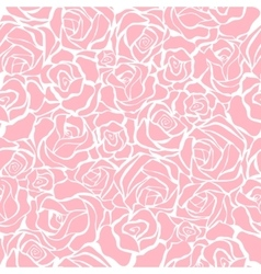 Seamless retro background with pink roses vector