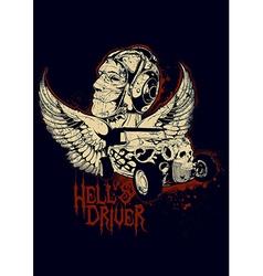 Hells Driver vector image
