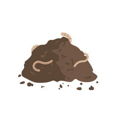 Worms in compost vector