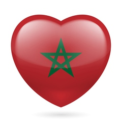Heart icon of morocco vector