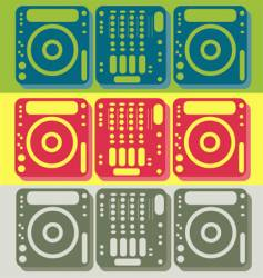 DJ equipment vector image
