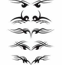 tribal tattoo samples vector image