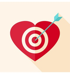 Heart target with arrow vector