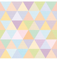 Abstract multicolored triangles repeat fabric vector
