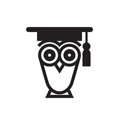 Owl educational symbol vector
