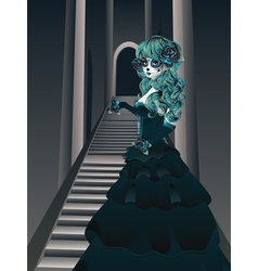 Gothic stairs and witch3 vector