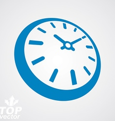 3d round stylized wall clock time idea classic vector