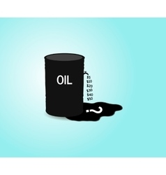 Iron barrel of oil vector