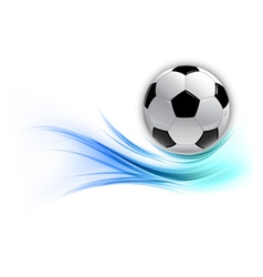 Football on abstract shape smoke blue vector
