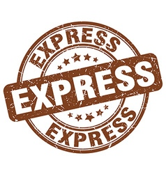 Express brown grunge round vintage rubber stamp vector