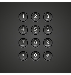 Keypad background vector