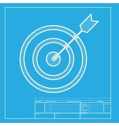 Target with dart white section of icon on vector
