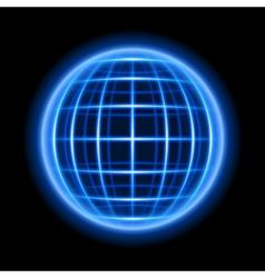 Modern wire light sphere vector