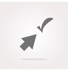 Computer button with arrow and check mark web vector