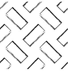 Abstract black and white seamless pattern vector
