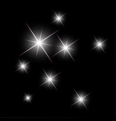 background with sparkling stars glittering vector image