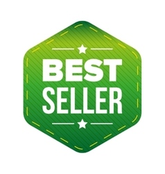Best Seller green patch vector image vector image