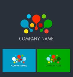 Dot colorful connect logo vector