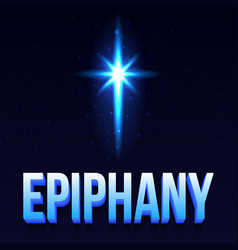epiphany day poster vector image vector image